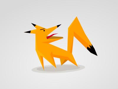 *yap* says the fox fox geometric character