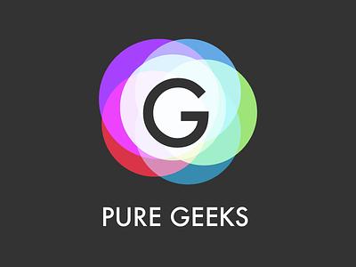 Pure Geeks Logo geek atom light pure