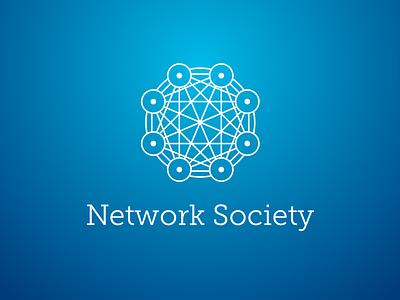 Network Society Logo logo eight renaissance badge heraldic