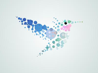 Bubble Hummingbird illustration hummingbird bubble