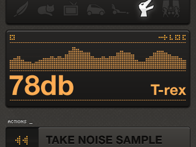 WideNoise 3.0, Gray iphone noise sound t-rex widenoise widetag