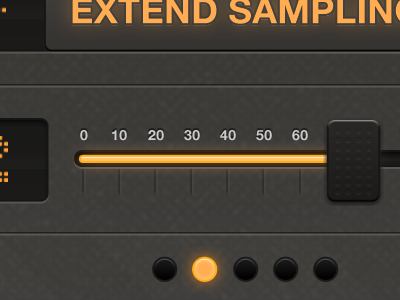 Widenoise 3.0 - Slider detail iphone noise sound slider widenoise widetag