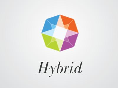 Hybrid Related Logo Draft hybrid diamond colors four outline logo