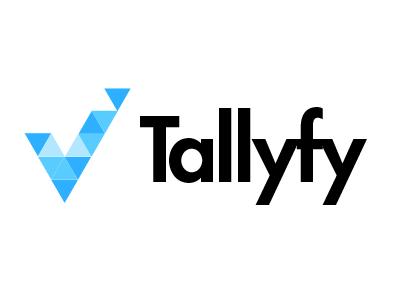 Tallyfy Logo (Evolution) check vee checkbox logo azure triangle