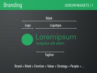 Branding / Lexicon Nugget 1
