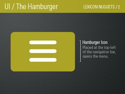 Hamburger Icon / Lexicon Nugget 2 mobile ios android nugget lexicon icon navigation