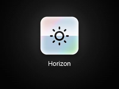 Horizon App iOS Icon - Remake horizon calendar icon sun opal