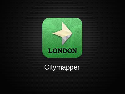 Citymapper App iOS Icon - Remake citymapper planner map arrow diamond london