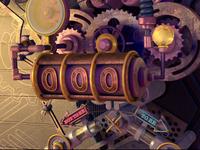 Choice Machine choice metal pipeline gear neon light game machine c4d 3d