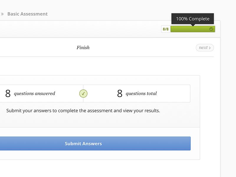 Assessment finish 1