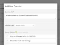 Assessment Question Modal