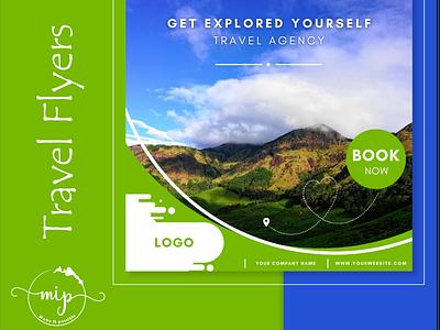 TRAVEL FLYER business ui illustration branding freelance designer design mockup flyer poster travel poster travel flyer