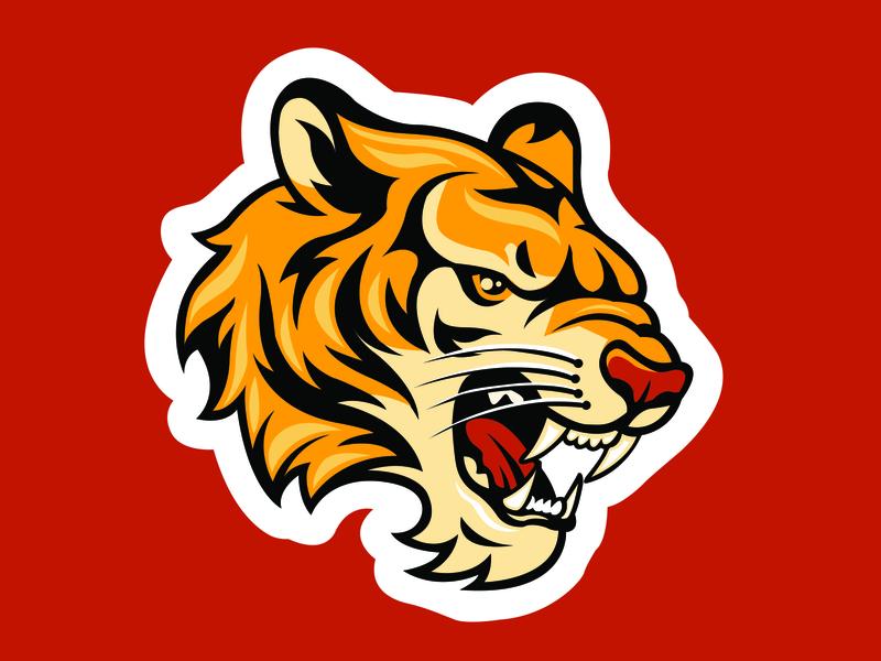 Tiger mascot illustrator uidesign branding ui logo vector design illustration