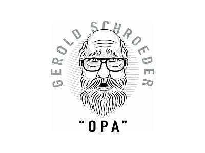 Opa Logo portrait illustration