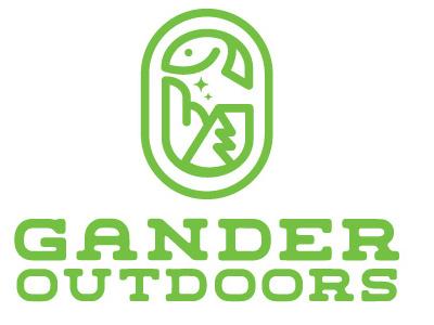 Gander Abstract wings stars tree fish green outdoors logo