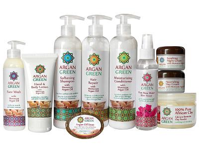 Argan Green packaging design haircare skincare brand brand design branding beauty product packagingdesign logo design
