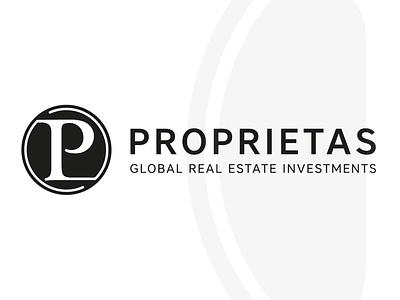 Proprietas - Global Real Estate Investments property real estate logo branding brand design brand