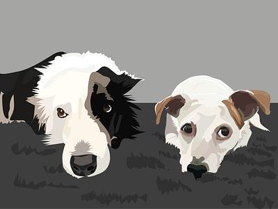 Just chilling pet portrait vector art vector design digital art illustration adobe illustrator
