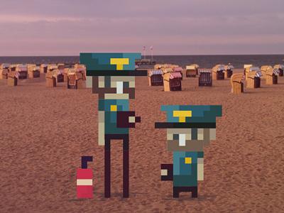Pixelcops patrol miamivice thechief cops digital police flatdesign pixel 8bit kidpapaya