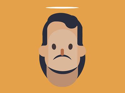 Dead Kingpin chriswalkman mafia jesus character flatdesign illustration vector