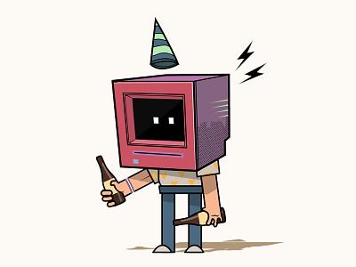 Birthday Bot chriswalkman vector party birthdaybot illustration gifparty celebrate