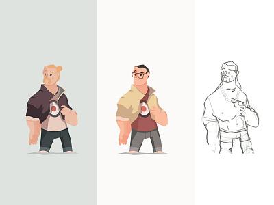 Vector Hooligans WIP vector tbh manbun colors lb illustration hipster glasses drawing characterdesign wip adobeillustrator