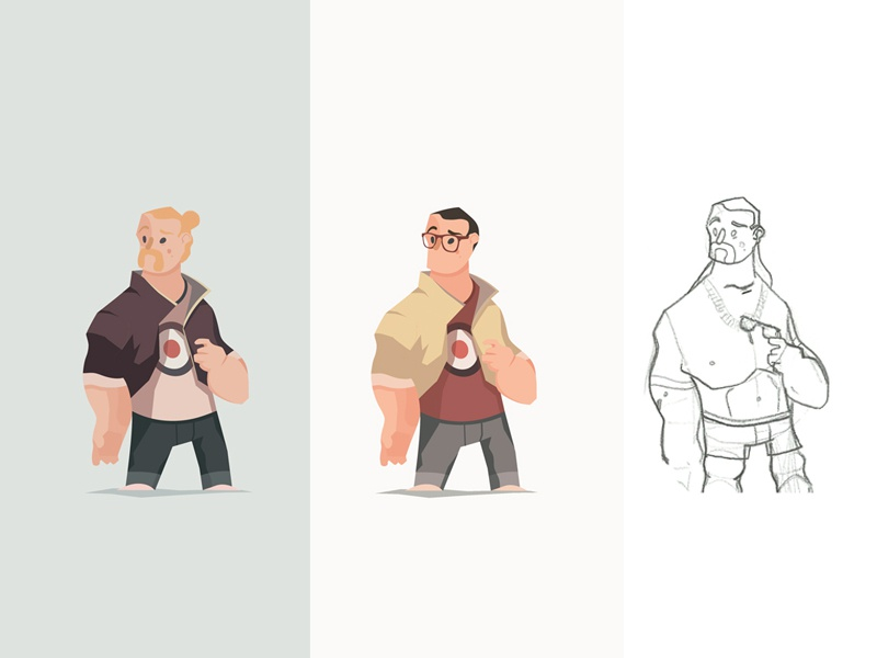 Vector Hooligans WIP vector tbh manbun colors lb illustration hipster glasses drawing characterdesign wip adobeillustrator