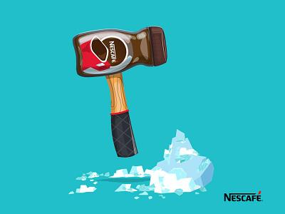 Breaking the Ice chriswalkman ogilvy freelance advertising vector content socialmedia coffee nescafe illustration