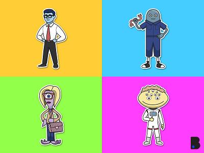 Alien Illustrations sky ufo nasa draw cute character vector cartoon illustration aliens alien