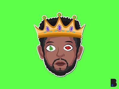 King Head cartoon graphic design graphic clean art logo icon minimal flat illustrator vector illustration design
