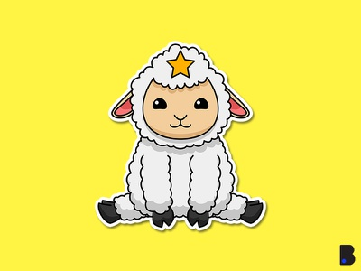 Sheep star graphic design graphic clean art logo icon minimal flat illustrator vector illustration design