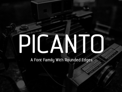 Picanto Font rounded shape rounded font quantum font professional typeface professional font font rounded commercial font clean typeface clean font