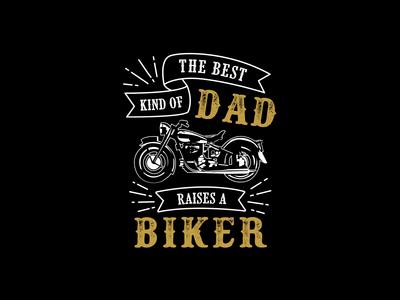 The best kind of dad biker