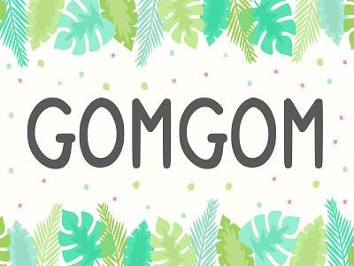 (Free Font) Gomgom Font children book otf ttf illustration joy alphabet font typeface cartoon comic children kid fun freebie free font free