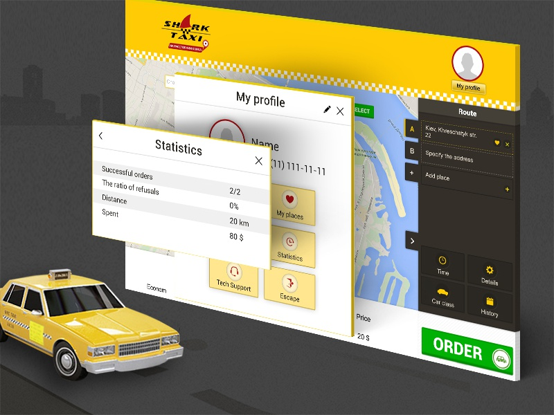 Taxi Web Client app design concept by Agilie transportation lyft uber logistics ui ux mobile ios iphone flat clean simple art animation android taxi interface