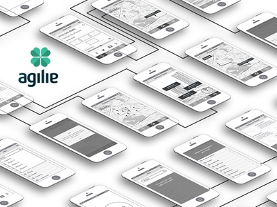 New travel guide wireframes app design concept