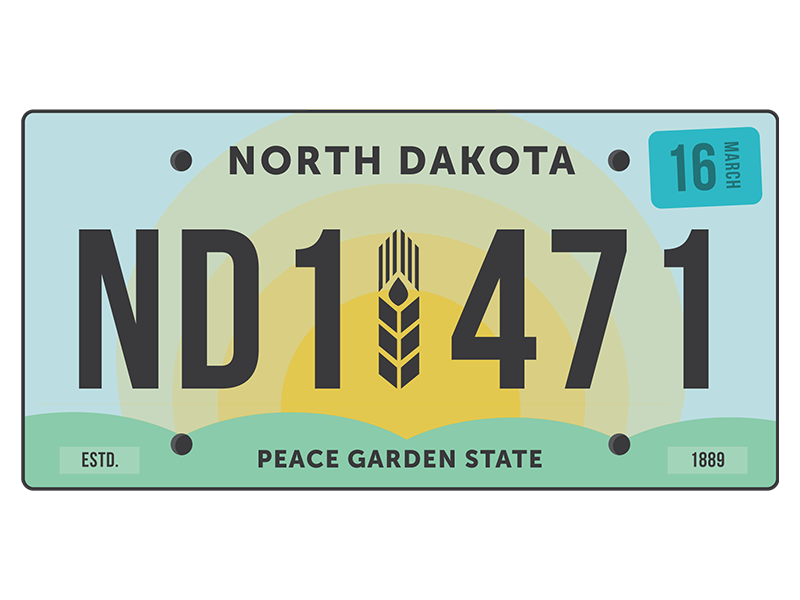 North Dakota License Plate Redesign united states state peace garden prairie wheat license plates north dakota