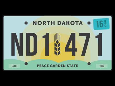 North Dakota License Plate Redesign