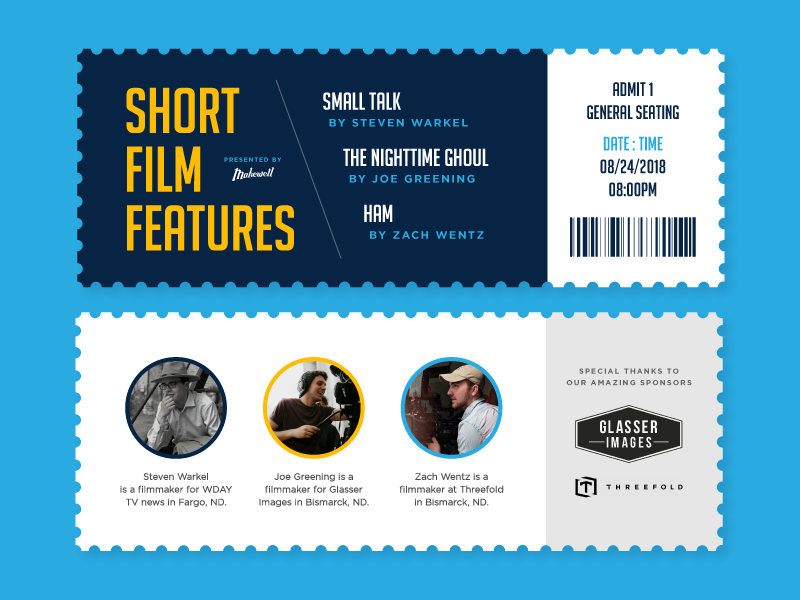 Short Film Tickets makewell movie blue tickets layout design film festival film