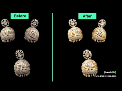 Jewelry retouch for  e-commerce image editing retouch clippingpath graphicxer