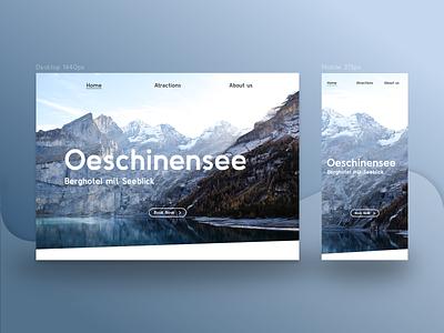 Landingpage Oeschinensee (Unofficial) landingpage simple ux ui web design