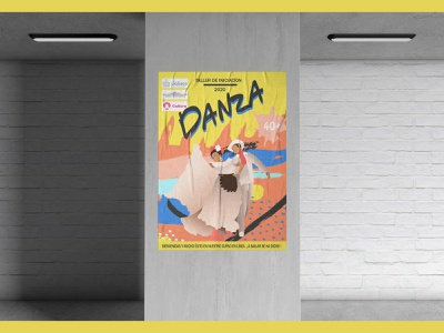 Atelier de danse mexicaine illustrator illustration design illustration art poster illustration digital illustration design