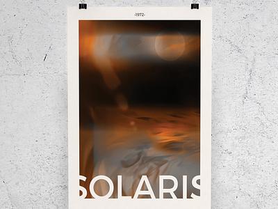 "Poster ""Solaris"" by Andreï Tarkovski contemporary illustration contemporary design minimalist poster modern poster film poster design film design illustration design poster illustration illustrator design film poster"