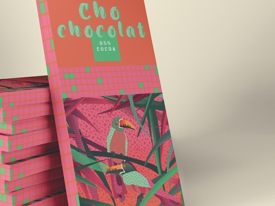 Guatemala chocolate 85% pink packaging branding cacao guatemala illustration animal bird chocolate packaging food packaging food design foodies food chocolat candy chocolate bar chocolate