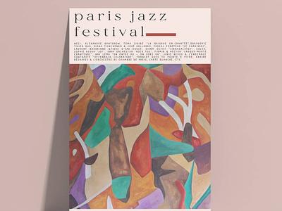 Paris jazz festival poster cartel poster music band music festival festival poster festival jazz music vinyl album music poster music jazz