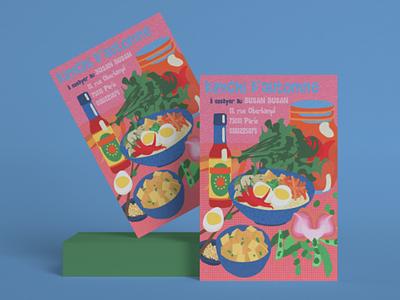 Kimchi d'automne visual identity startup concept store branding vegetarian vegetables illustration publicité advertising food design food illustration foodies restaurant japanese restaurant corean restaurant ramen kimchi food