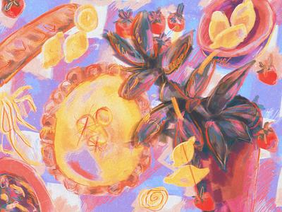 Lemon pie 🍋 still life lemon pie food design graphic design food lemon food illustration digital illustration illustration