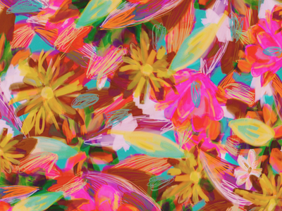 Saturday flowers 🌼 photoshop nature digital painting painting graphic design flower abstract pattern pattern flowers digital illustration illustration
