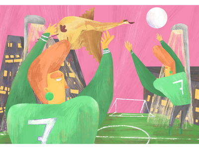 Freedom is a clever mix between love and letting go children book comics freedom animal foot football digital painting painting digital illustration illustration