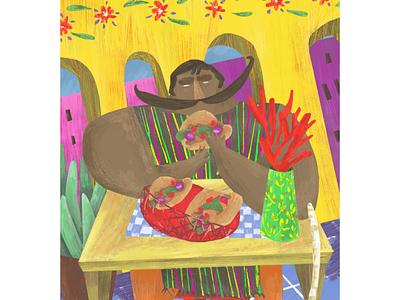 Tacos restaurant restaurant food illustration foodies méxico tacos food photoshop illustration